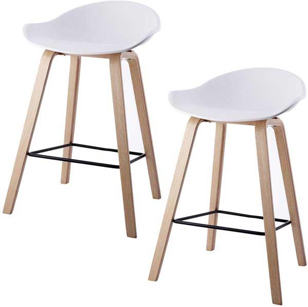 Tabouret design scandinave avec pieds en bois