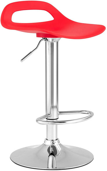 Tabouret style moderne avec assise en plastique