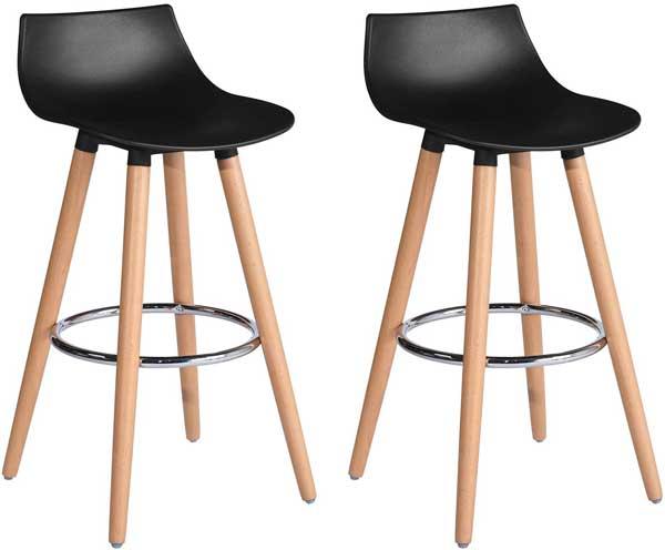 Set 2 tabourets bois design moderne