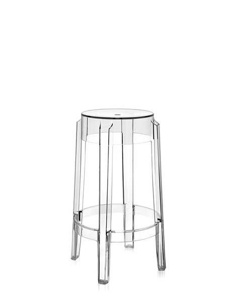 Tabourets transparent Charles Ghost