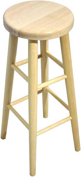 Tabouret de bar en bois de hêtre