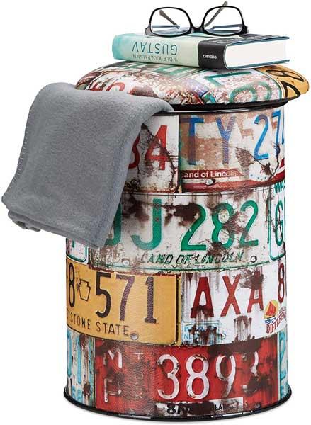 Tabouret cylindrique vintage
