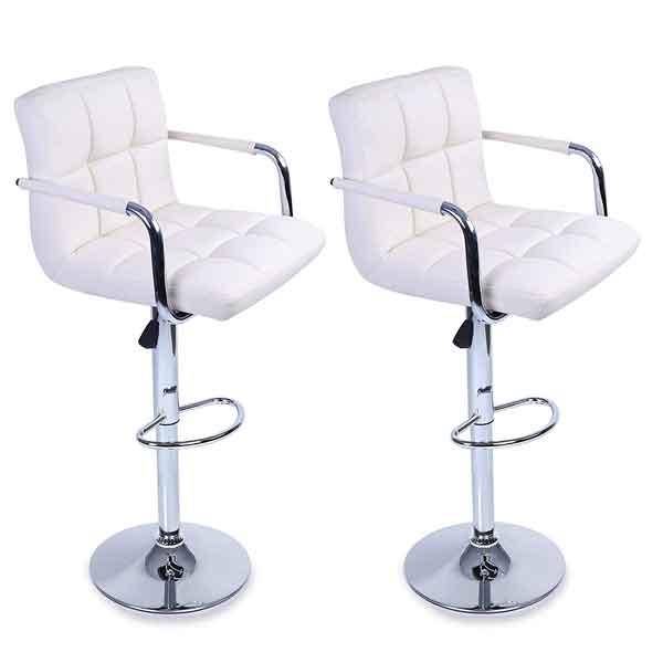 2 chaises hautes bar cuir synthétique