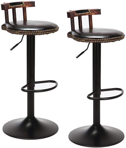 2 tabourets décoratifs et confortables