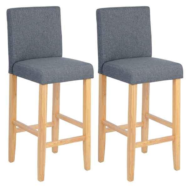Set 2 chaises hautes de bar