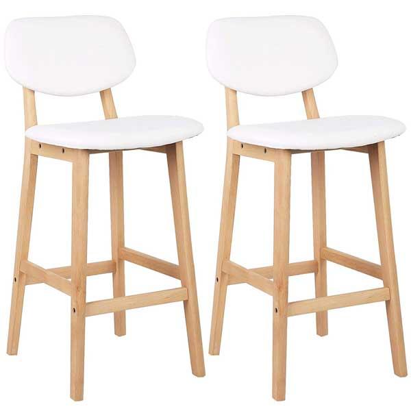Chaises de cuisine avec pieds en bois massif